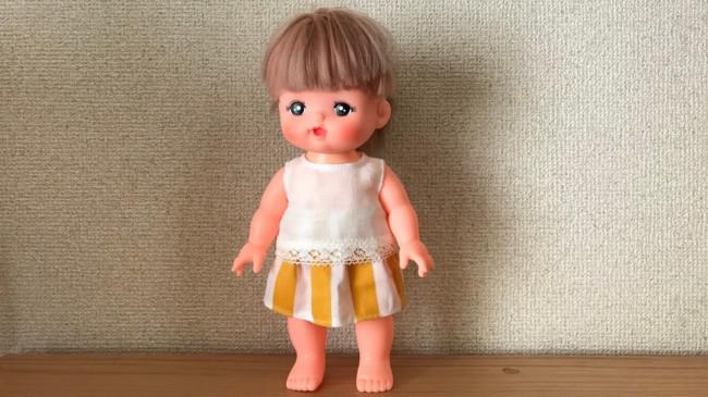 メルちゃんの簡単スカート