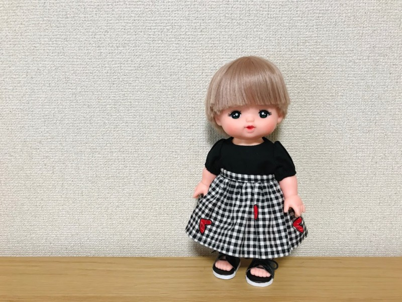 メルちゃんのゴムなしギャザースカート
