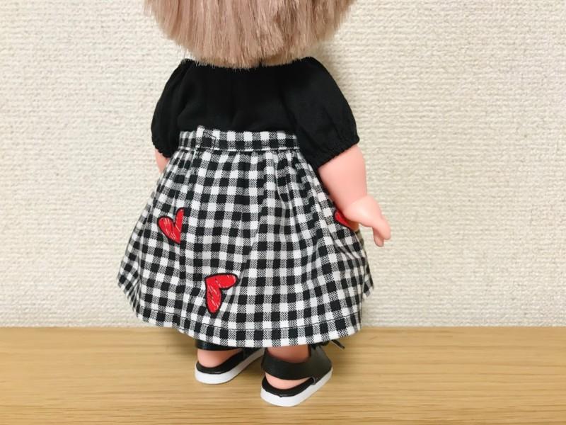 メルちゃんのギャザースカート