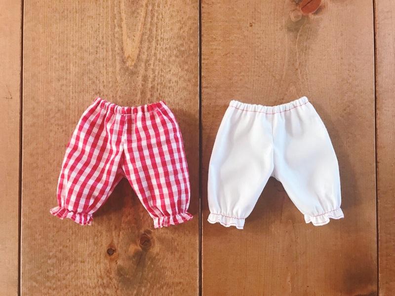 メルちゃんパジャマのズボンの作り方