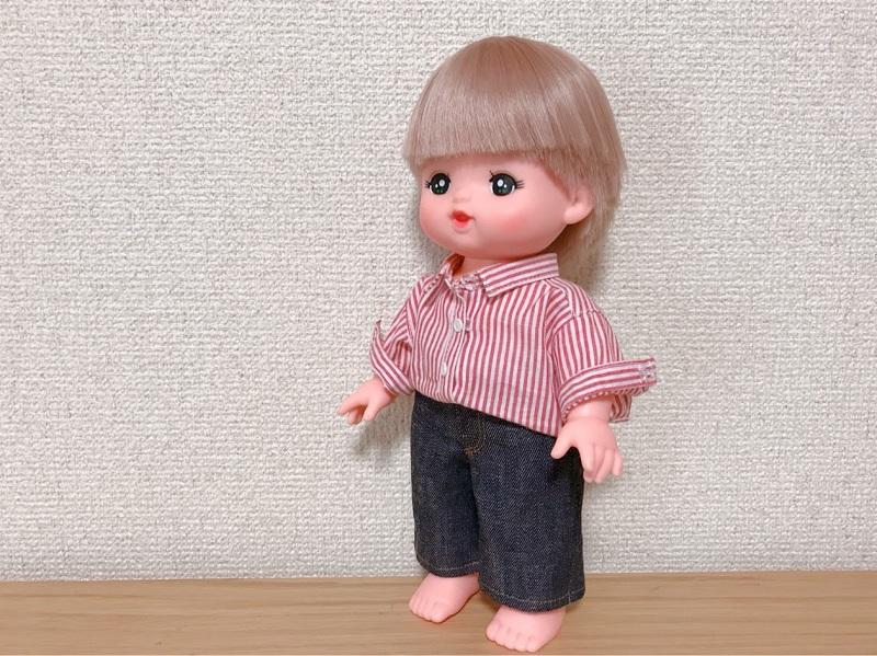 メルちゃんの台衿つきシャツ