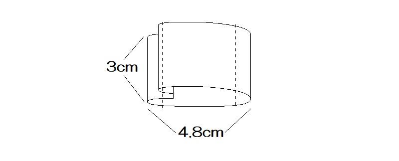 メルちゃんのマスクの寸法