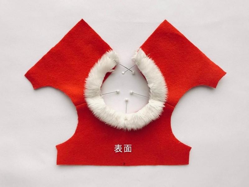 ソランちゃんのクリスマス服の作り方