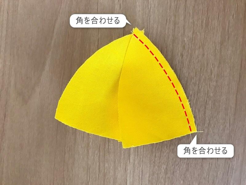メルちゃんの小学生黄色い帽子の縫い方