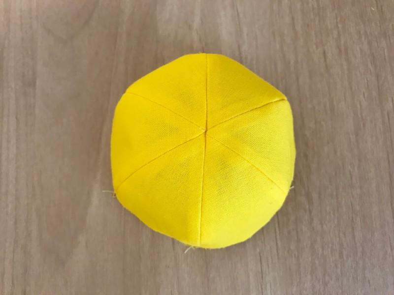 メルちゃんの小学生黄色い通学帽子の作り方