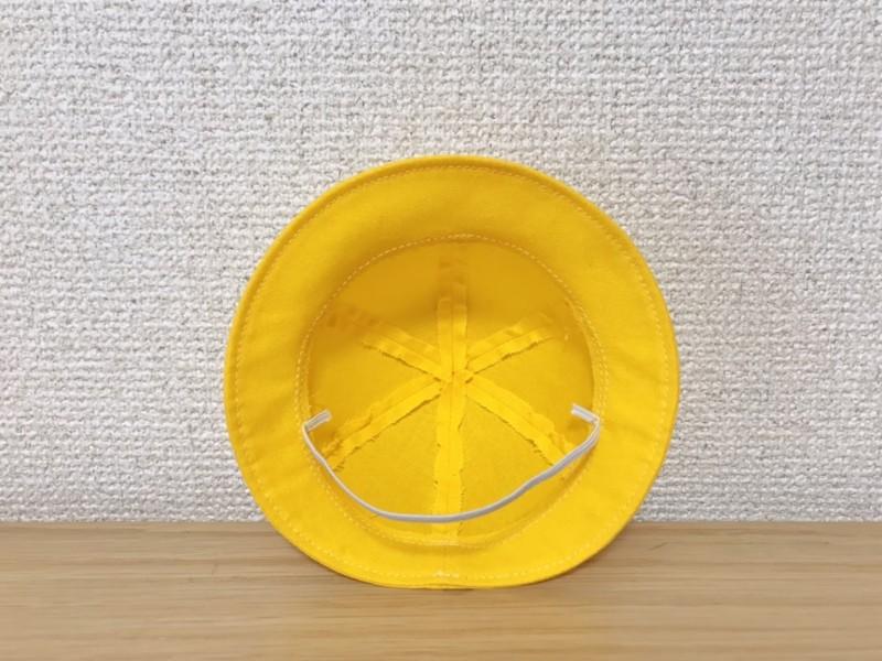 メルちゃんの手作り帽子の裏側