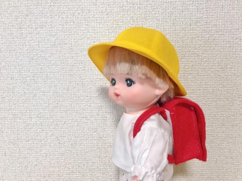 メルちゃんの通学帽子を手作り