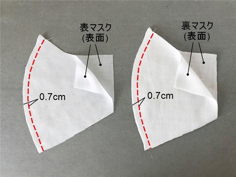 夏用マスクの作り方と無料型紙
