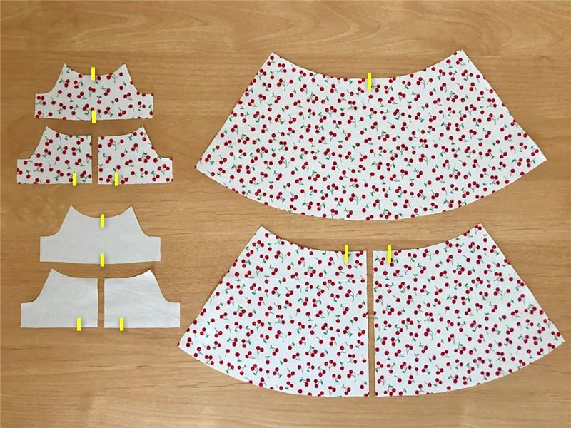 メルちゃんの手作りドレスの裁断方法