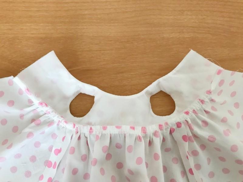 メルちゃんサイズの裏付きノースリーブドレスの作り方