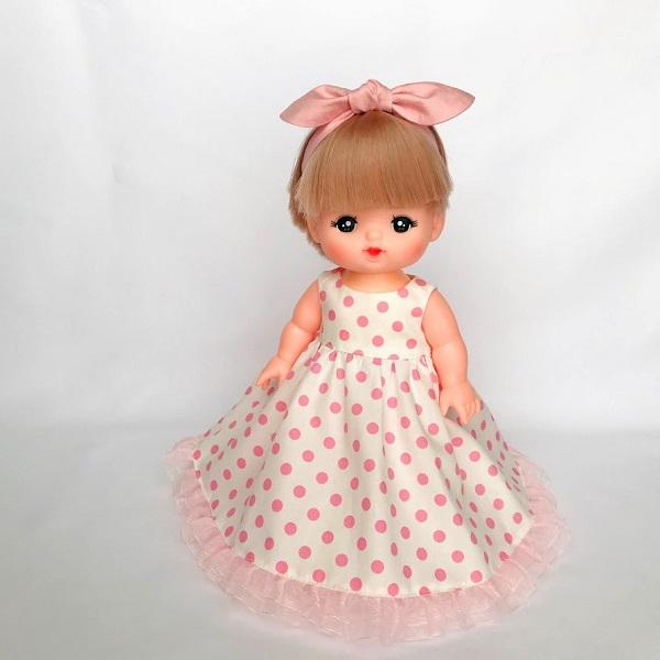 メルちゃんのノースリーブドレスの作り方と無料型紙