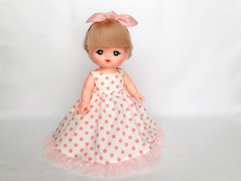 メルちゃんのノースリーブドレスをハンドメイド