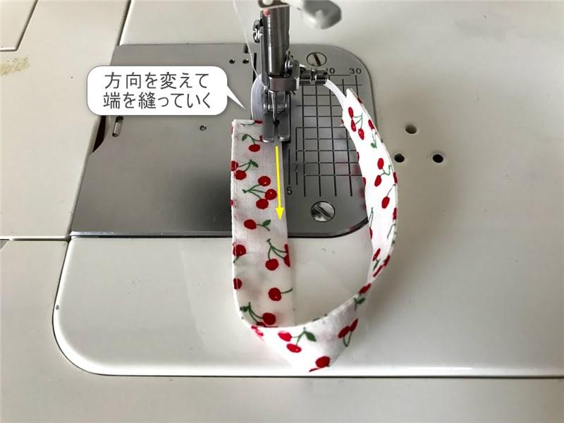 メルちゃんのリボンヘアバンドの縫い方