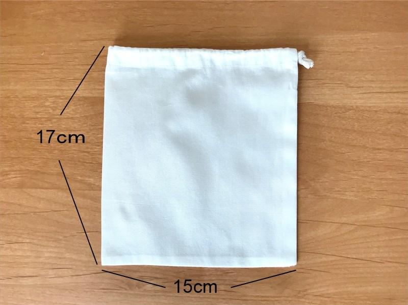 ソランちゃんサイズのサンタ袋のサイズ