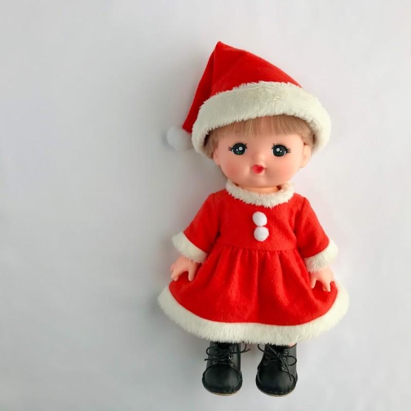 メルちゃんの手作りクリスマスコスチューム