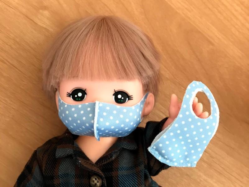 メルちゃんのポリウレタン立体マスクの作り方と無料型紙