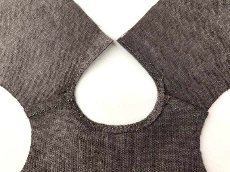メルちゃんのハンドメイド服ー衿ぐりの簡単な縫い方
