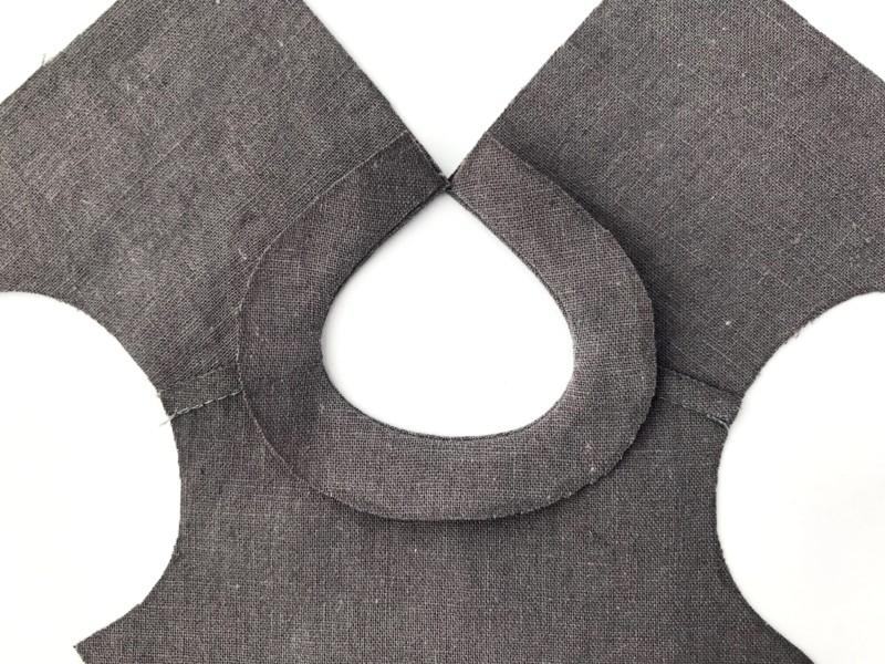 メルちゃんのハンドメイド服ー衿ぐりの縫い方